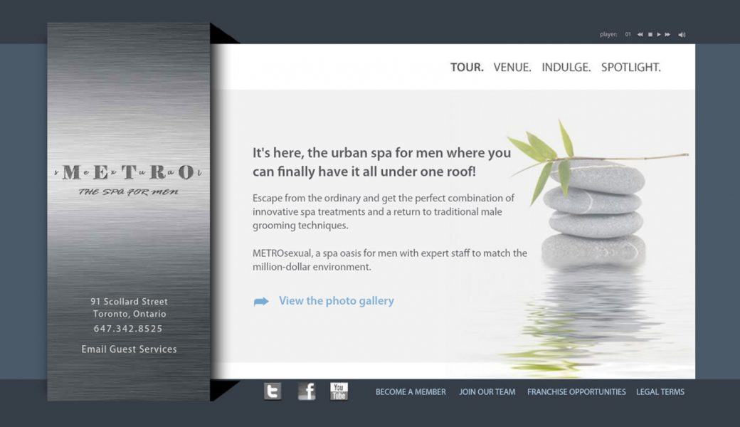 METROSEXUAL: Spa For Men