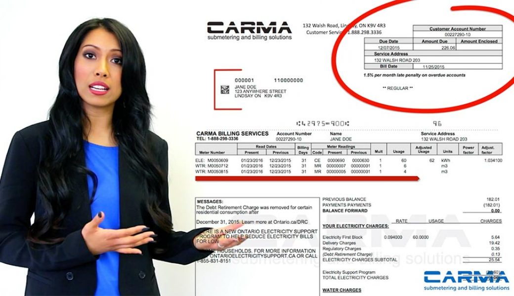 CARMA UNDERSTANDING YOUR BILL