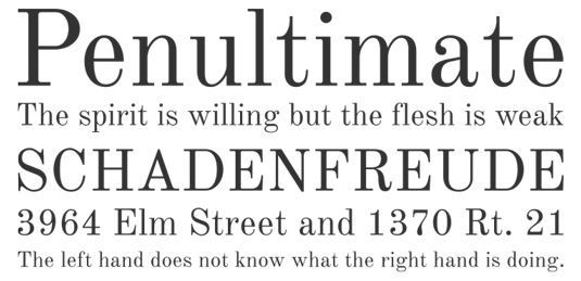 A serif font sample for the font Old Standard
