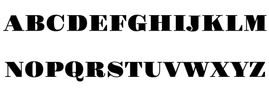 A serif display font sample for Gravitas one