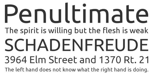 A sansserif font sample for the Font UBuntu