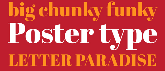 A serif display type font sample for Abril Fatface